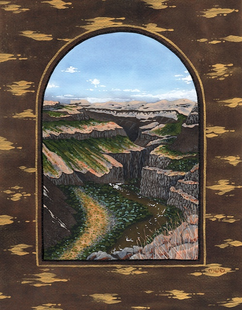 "Snake River Basin: Palouse River Canyon, 11"" X 14"", acrylic, 2013, Mark W. McGinnis"