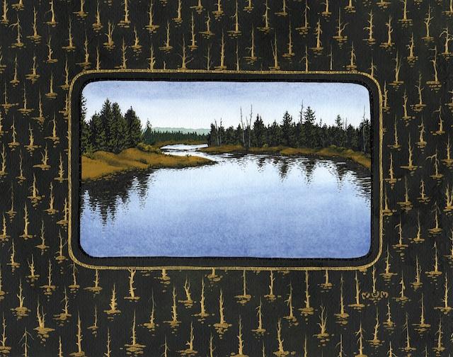 "Snake River Basin: Buffalo River, 11"" X 14"", acrylic, 2013, Mark W. McGinnis"