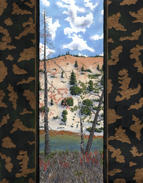 "Snake River Basin: Grey River, 11"" X 14"", acrylic on paper, 2013, Mark W. McGinnis"
