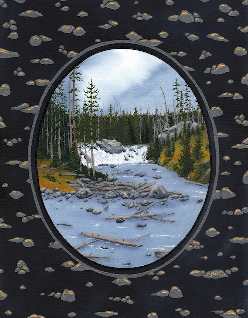 "Snake River Basin: Lewis River, 11"" X 14"", acrylic, 2013, Mark W. McGinnis"