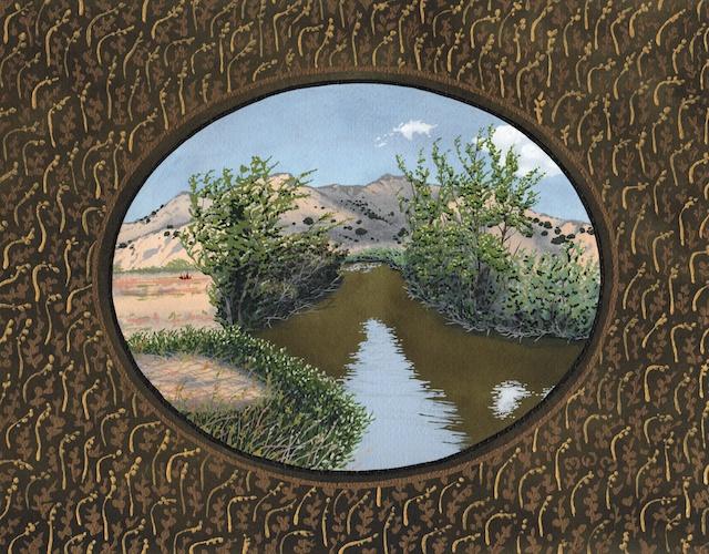 "Snake River Basin: Pontneuf River, South Fork, 11"" X 14"", acrylic, 2013, Mark W. McGin"