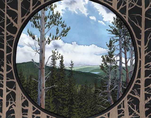 "Snake River Basin: Shoshone Lake, 11"" X 14"", acrylic, 2013, Mark W. McGinnis"
