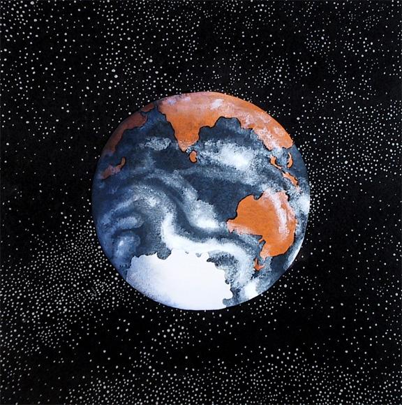 """Gitanjali 82, acrylic on paper, 9"""" X 9"""", 2003, Mark W. McGinnis"""